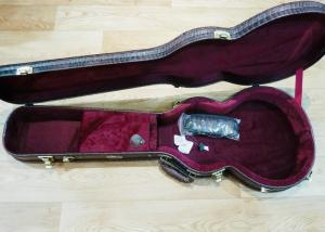 ARRIVING SEPT., Terry Pack Guitar cases, crocskin, de luxe,  leather handle. All model sizes available